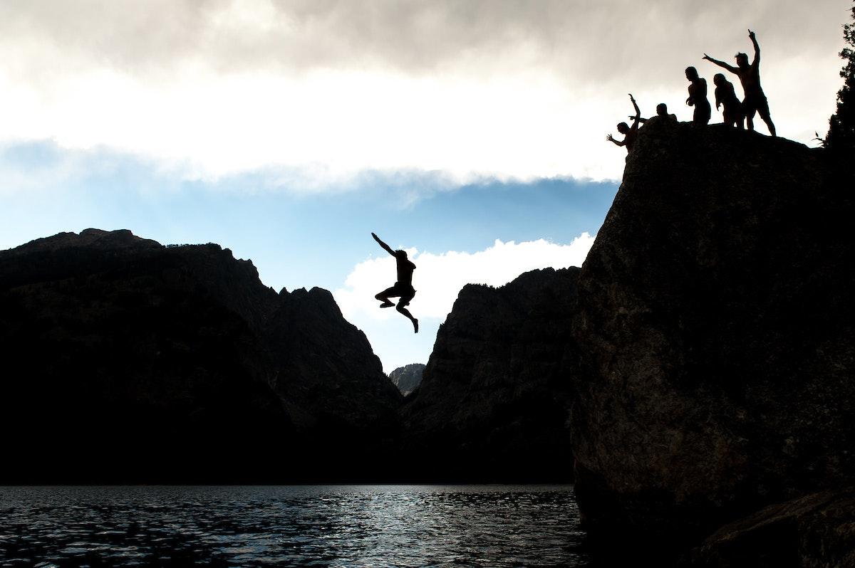Jh Rock Climbing Water Jump