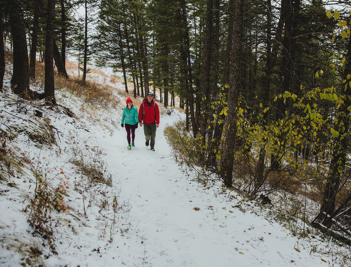 Jh Winter Couple Trail Hike