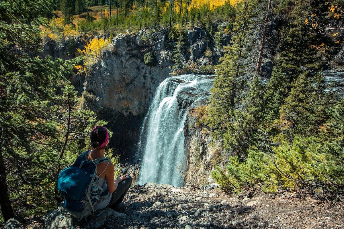 Jacksonhole Rockclimbing Waterfall