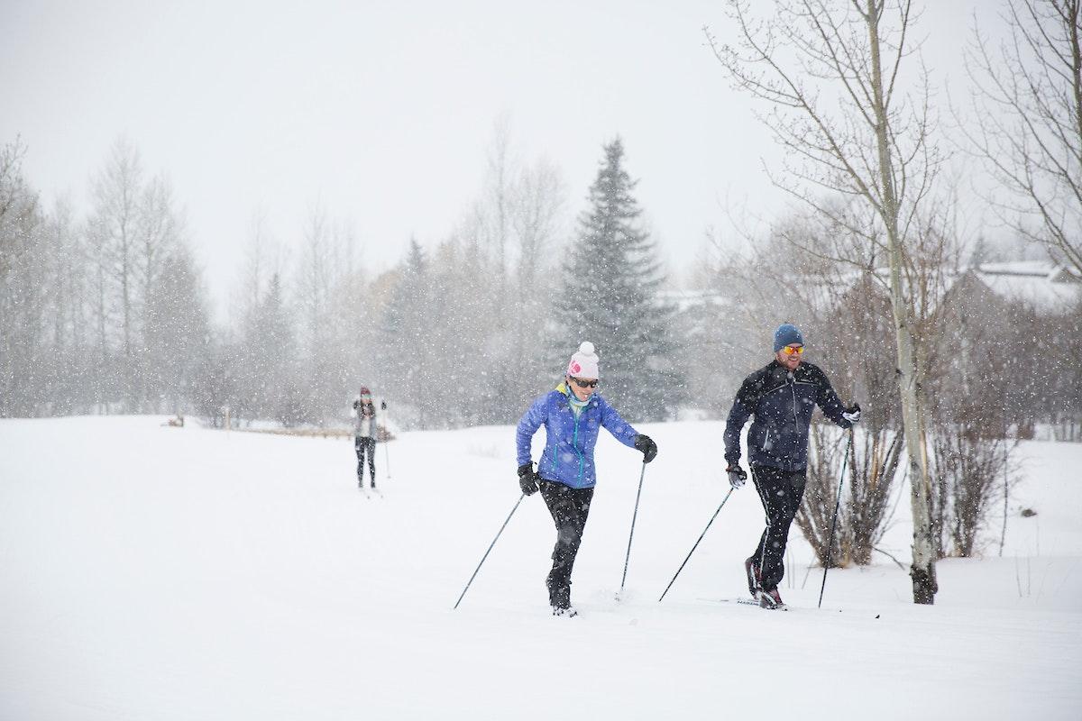 Jackson Nordicskiing Snowing