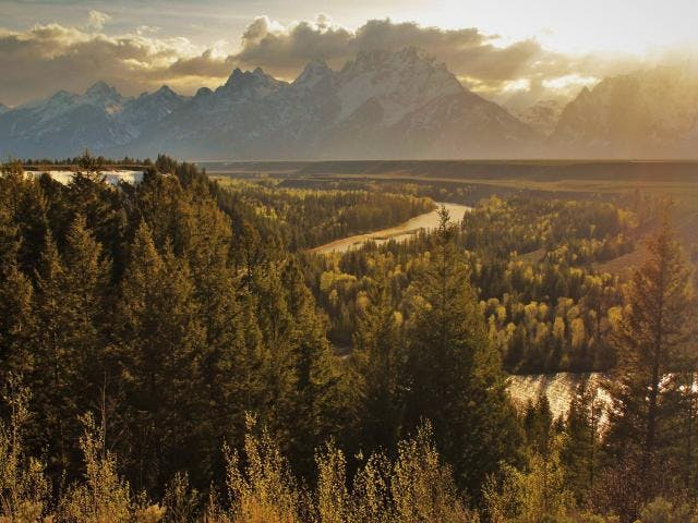 Tetons Fall  Medium
